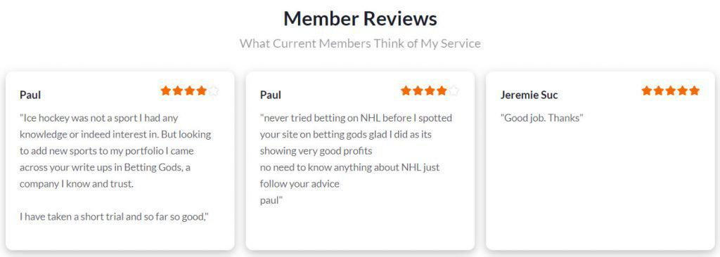 NHL Betting Master reviews from its members.
